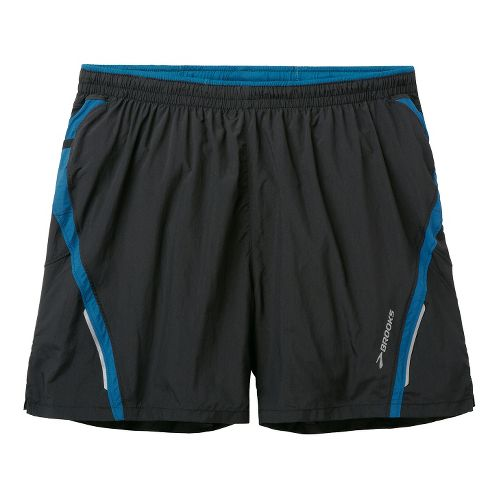 Mens Brooks Infiniti Notch II Lined Shorts - Black/Baltic L