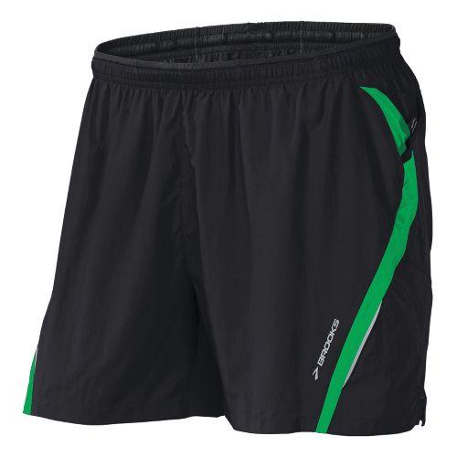 Mens Brooks Infiniti Notch II Lined Shorts - Black/Fern XL