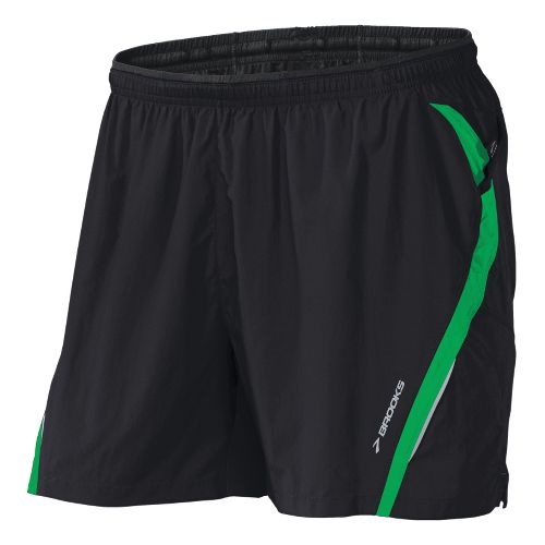 Mens Brooks Infiniti Notch II Lined Shorts - Black/Fern XXL