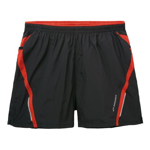 Mens Brooks Infiniti Notch II Lined Shorts - Black/Mars XXL