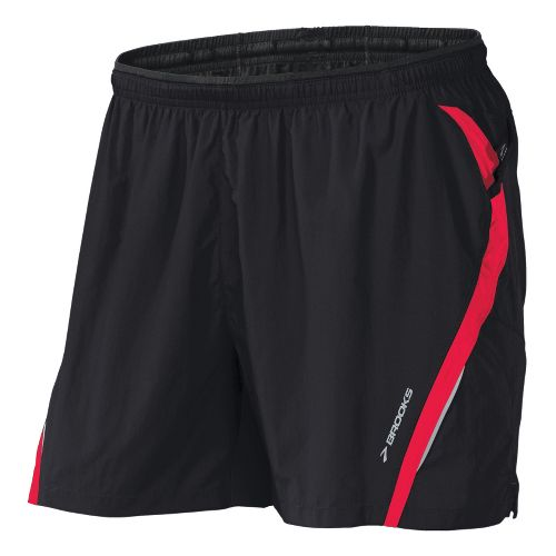 Mens Brooks Infiniti Notch II Lined Shorts - Black/Plume L