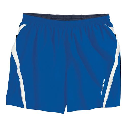 Mens Brooks Infiniti Notch II Lined Shorts - Electric/White L