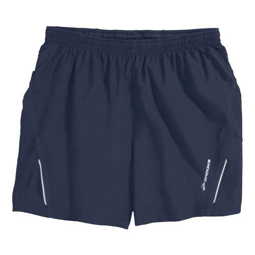 Mens Brooks Infiniti Notch II Lined Shorts - Midnight L