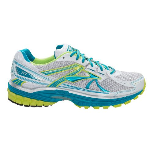 Womens Brooks Defyance 7 Running Shoe - Caribbean/White 12