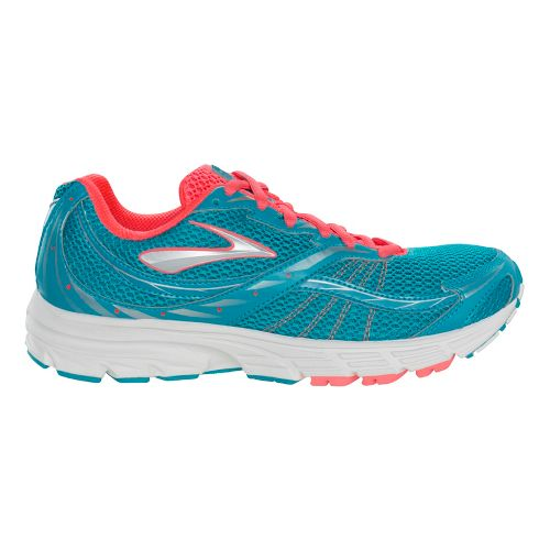 Womens Brooks Launch Running Shoe - Caribbean/Silver 6.5