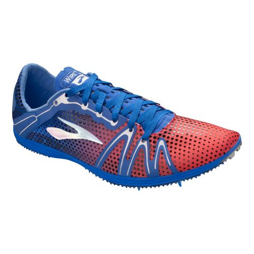 Brooks The Wire 3 Track and Field Shoe - Electric/Fiery Coral 10.5