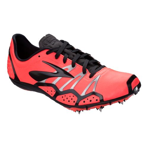 Brooks 2 QW-K Track and Field Shoe - Fiery Coral/Black 9