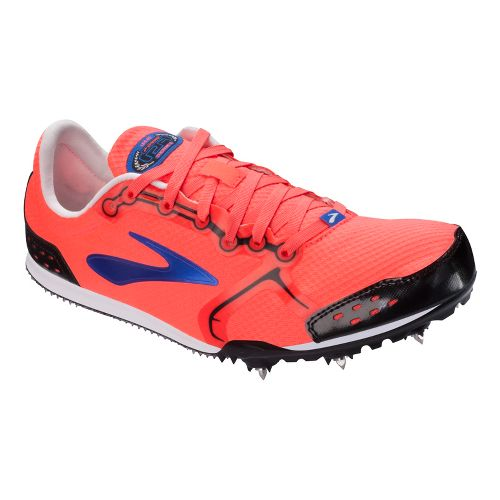 Womens Brooks PR LD 4:48 Track and Field Shoe - Fiery Coral 10.5
