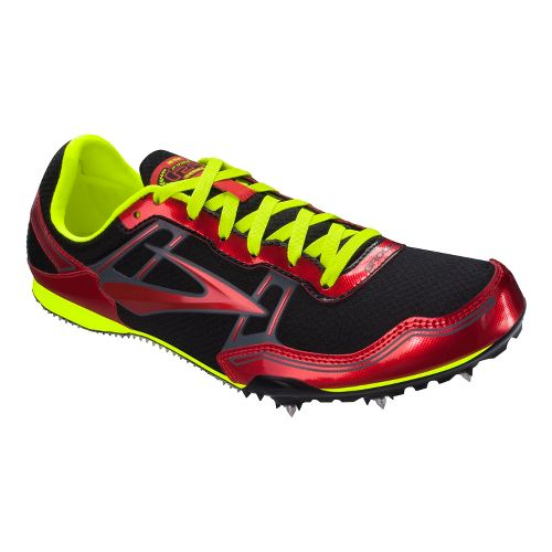 Mens Brooks PR MD 46.61 Track and Field Shoe - Red 9