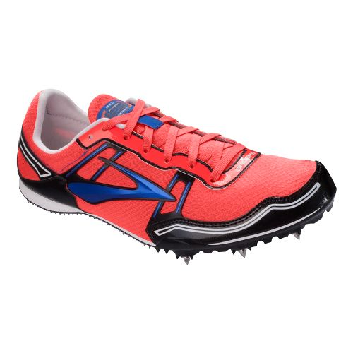 Womens Brooks PR MD 54.26 Track and Field Shoe - Fiery Coral 8.5