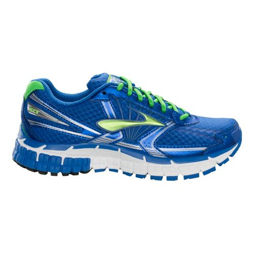 Kids Brooks Adrenaline GTS 14 Running Shoe - Olympia Blue/Classic Green 6.5