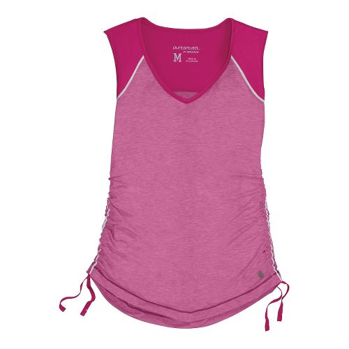 Womens Brooks PureProject Sleeveless Technical Tops - Fuchsia/Heather XS