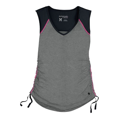 Womens Brooks PureProject Sleeveless Technical Tops - Heather Black/Black S