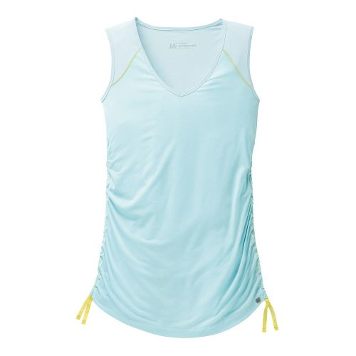 Womens Brooks PureProject Sleeveless Technical Tops - Heather Sea Breeze XL