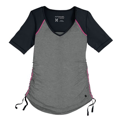 Womens Brooks PureProject Short Sleeve Technical Tops - Black/Heather XS