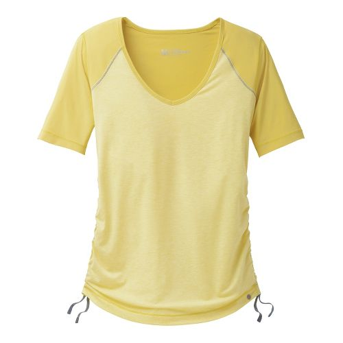 Womens Brooks PureProject Short Sleeve Technical Tops - Corona/Heather XS