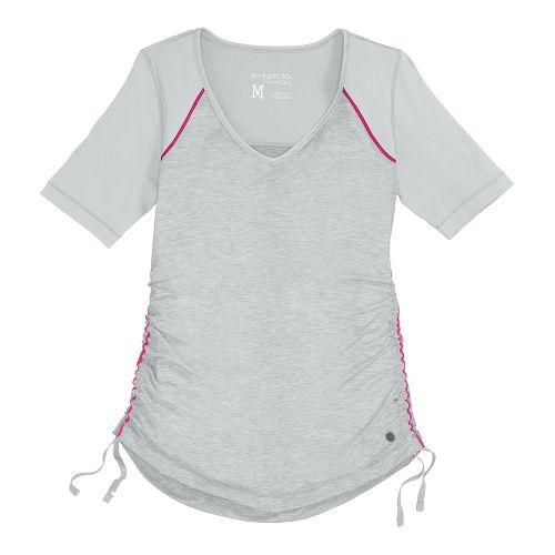 Womens Brooks PureProject Short Sleeve Technical Tops - Fog L