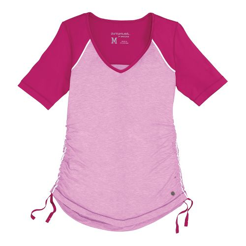 Womens Brooks PureProject Short Sleeve Technical Tops - Fuchsia L