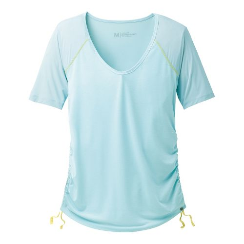 Womens Brooks PureProject Short Sleeve Technical Tops - Heather Sea Breeze M