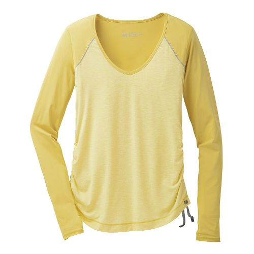 Womens Brooks PureProject Long Sleeve No Zip Technical Tops - Corona/Heather S