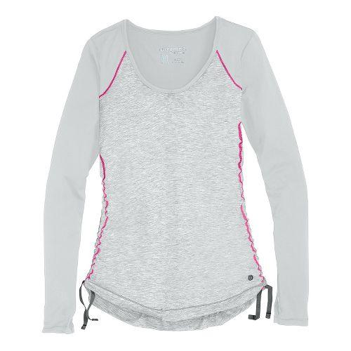 Womens Brooks PureProject Long Sleeve No Zip Technical Tops - Fog XS