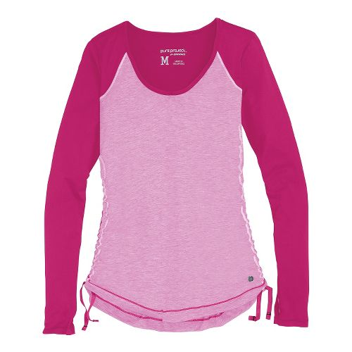 Womens Brooks PureProject Long Sleeve No Zip Technical Tops - Fuchsia M