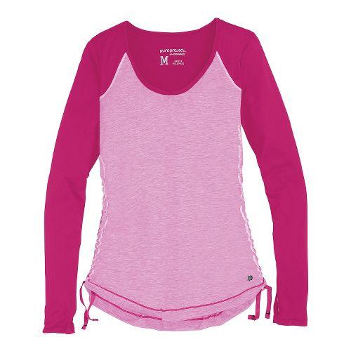 Womens Brooks PureProject Long Sleeve No Zip Technical Tops - Fuchsia S