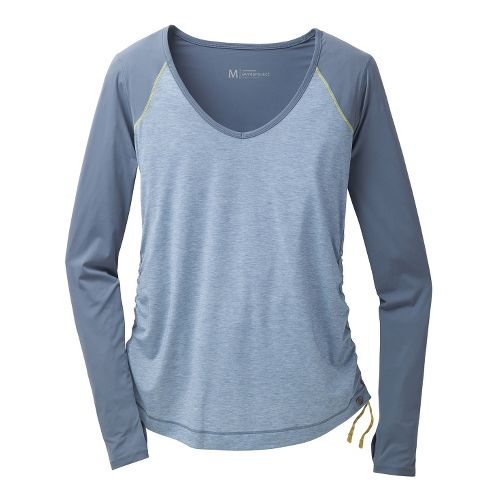 Womens Brooks PureProject Long Sleeve No Zip Technical Tops - Storm L