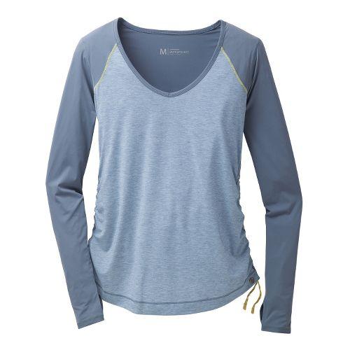 Womens Brooks PureProject Long Sleeve No Zip Technical Tops - Storm L