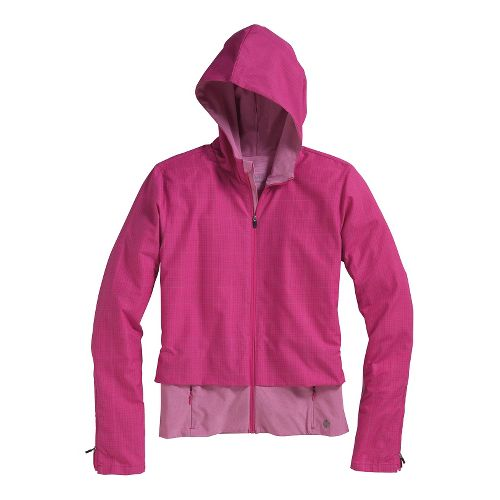 Womens Brooks PureProject Running Jackets - Fuchsia Plaid/Fuchsia L