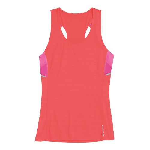 Womens Brooks Infiniti Sleeveless Technical Tops - Poppy/Fuchsia S