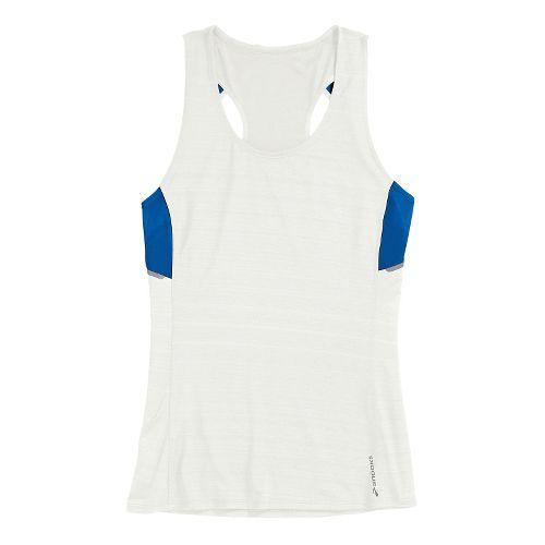 Womens Brooks Infiniti Sleeveless Technical Tops - White/Electric XS