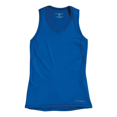 Womens Brooks Essential Vneck Sleeveless Technical Tops - Electric M