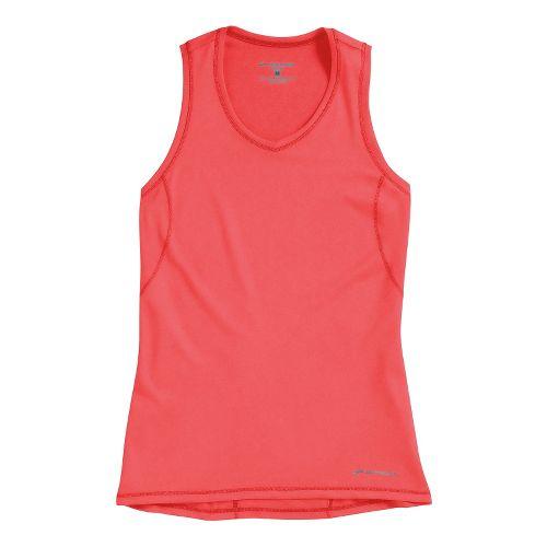 Womens Brooks Essential Vneck Sleeveless Technical Tops - Poppy XL