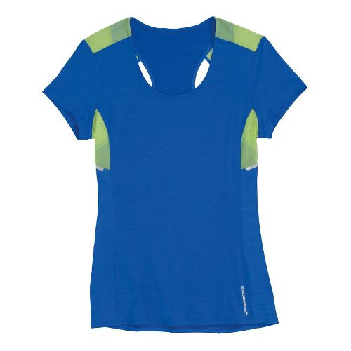 Womens Brooks Infiniti Short Sleeve Technical Tops - Electric/Lime XL