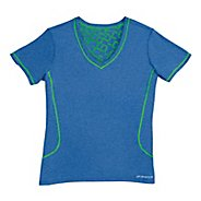 Womens Brooks Versatile Printed SS III Technical Tops