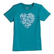 Womens Brooks EZ T III Love to Run Short Sleeve Technical Tops