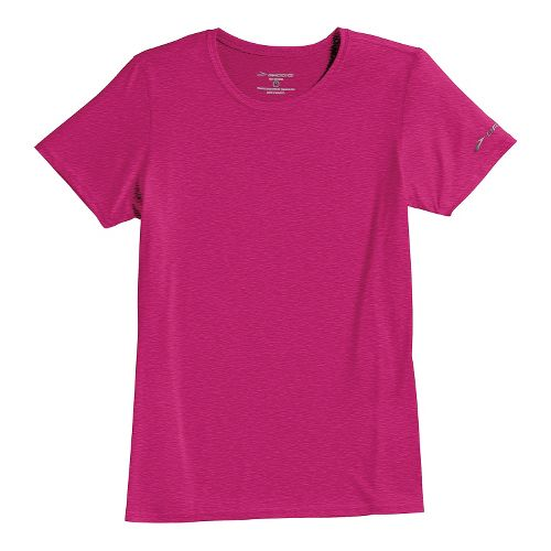 Womens Brooks EZ T III Short Sleeve Technical Tops - Fuchsia M