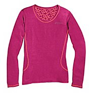 Womens Brooks Versatile Printed III Long Sleeve No Zip Technical Tops