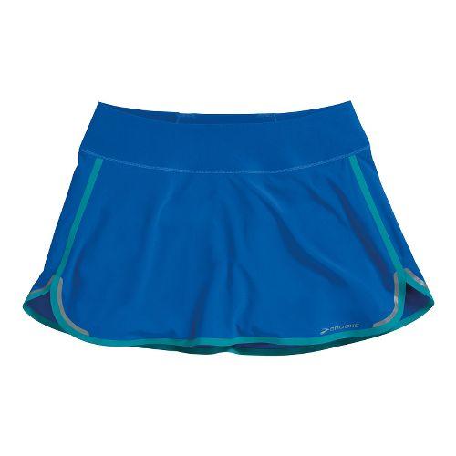 Womens Brooks Infiniti Skort Fitness Skirts - Electric/Caribbean XS