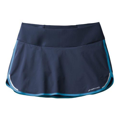 Womens Brooks Infiniti Skort Fitness Skirts - Midnight/Aurora M