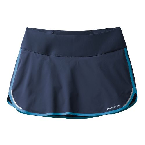 Womens Brooks Infiniti Skort Fitness Skirts - Midnight/Aurora XL