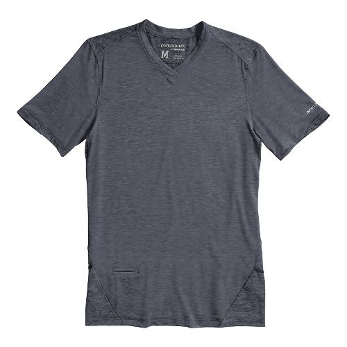 Mens Brooks PureProject Short Sleeve Technical Tops - Anthracite L