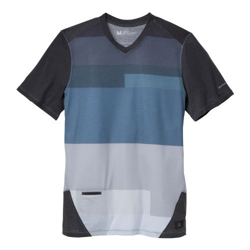 Mens Brooks PureProject Short Sleeve Technical Tops - Charcoal/Print XS
