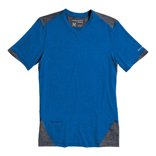 Mens Brooks PureProject Short Sleeve Technical Tops - Electric/Anthracite S