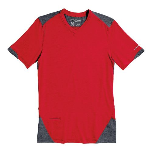 Mens Brooks PureProject Short Sleeve Technical Tops - High Risk Red/Anthracite S