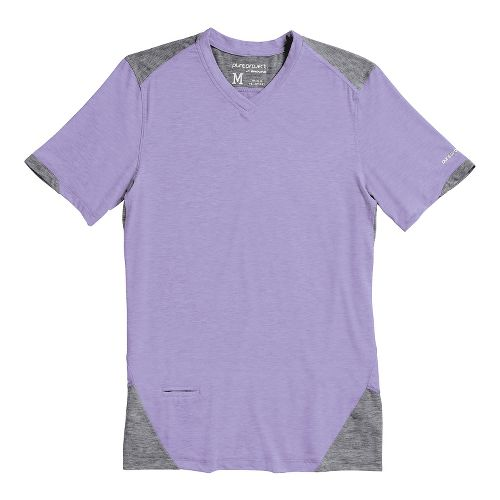 Mens Brooks PureProject Short Sleeve Technical Tops - Prince/Anthracite M