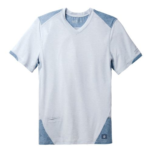 Mens Brooks PureProject Short Sleeve Technical Tops - Sterling/Storm L