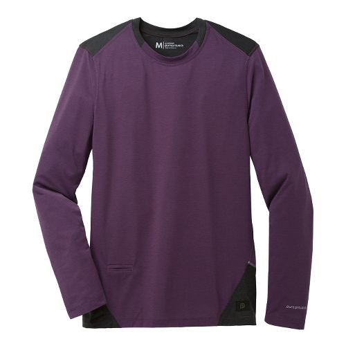 Mens Brooks PureProject Long Sleeve No Zip Technical Tops - Fig/Black XL