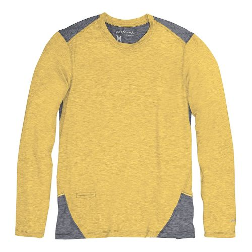 Mens Brooks PureProject Long Sleeve No Zip Technical Tops - Sulphur/Anthracite L